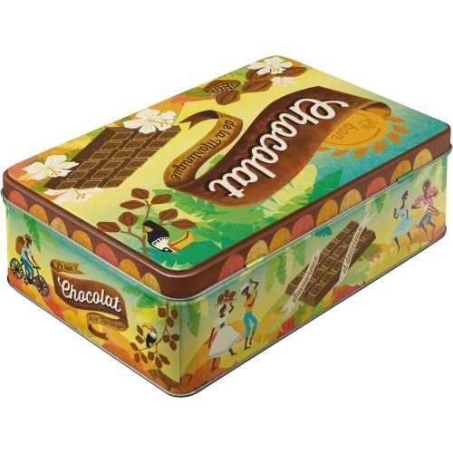 caja de metal plana nostalgic-art® chocolate