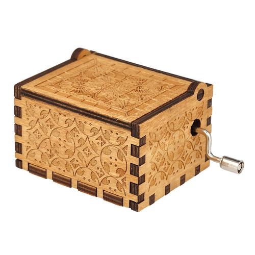 caja de msica de la cancin del tema de madera de la