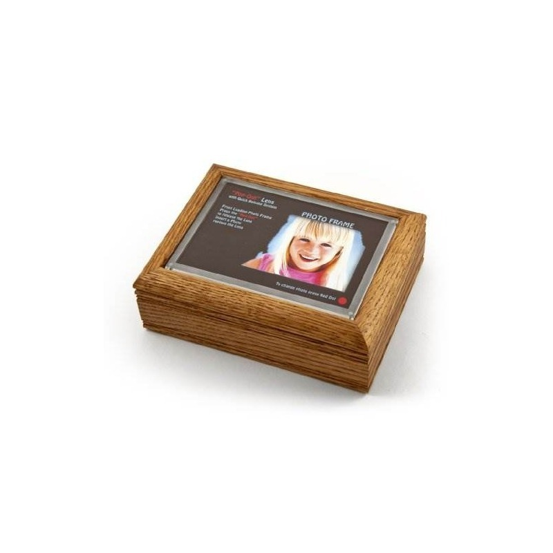 Caja De Música Con Marco De Fotos 4 X 6 Oak Con Nuevo Sistem ...