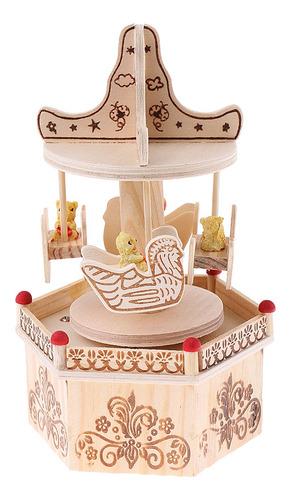 caja de música decoración de hogar figuritas adornos