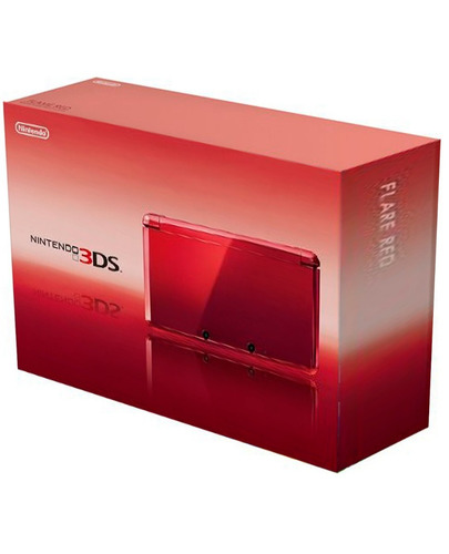 caja de nintendo ds 3d de color rojo