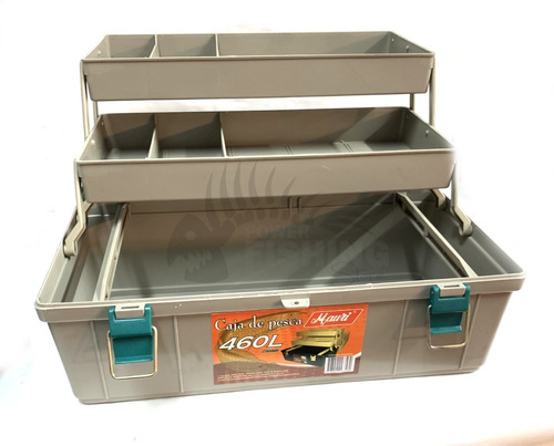 caja de pesca mauri 460 l con 2 bandejas maletín de pesca