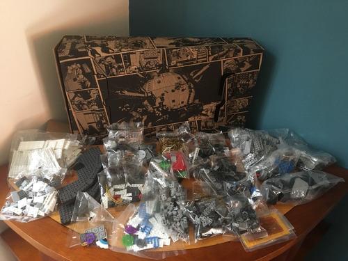 caja de piezas mega bloks del tecnódromo tortugas ninja