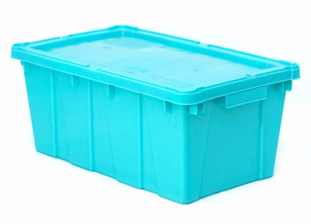 Caja de pl stico canad con tapa medidas 50x30x21h - Cajas de plastico ...