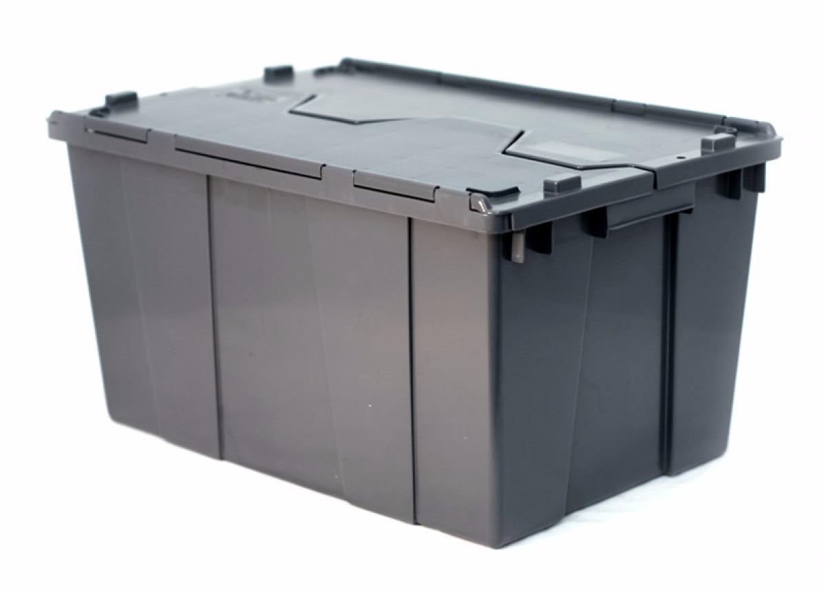 Caja de plastico de bisagras 60 32 c tapa medidas60x40x32h - Caja plastico con tapa ...