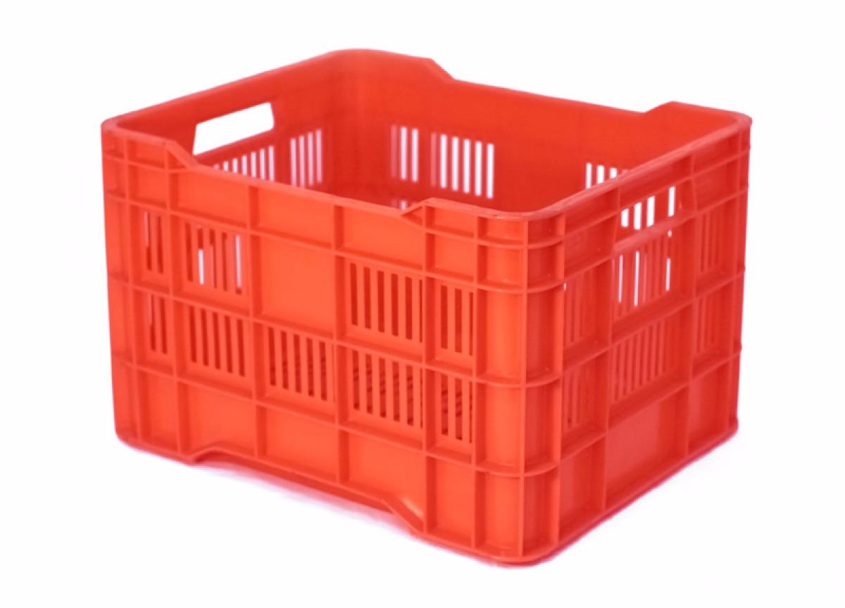 Caja de pl stico ganadera calada medidas 44x36x28h - Cajas de plastico ...
