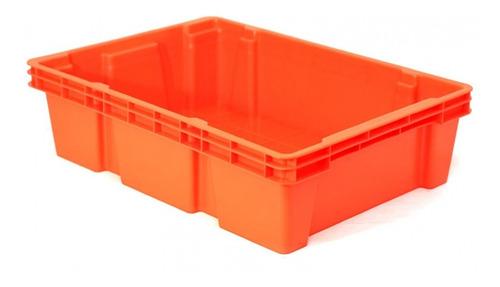 caja de plástico multicontenedor cerrado apilable y anidable