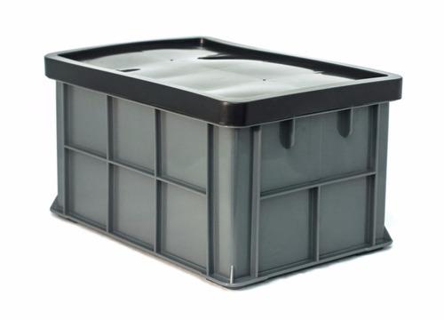 Caja de plastico quebec con tapa medidas 50x34x27h - Caja plastico con tapa ...