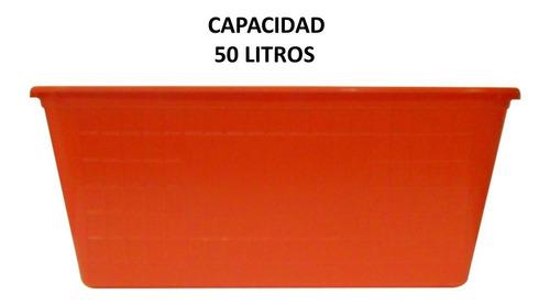 caja de plástico rectangular 57x39 cm varios colores 5 lts