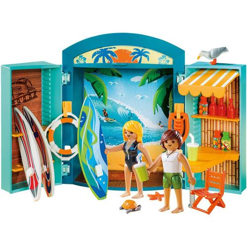 caja de playmobil surf shop juego