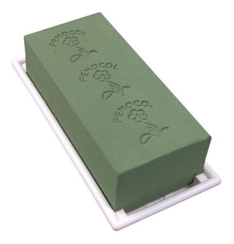 caja de porta espuma floral de 1 bloque