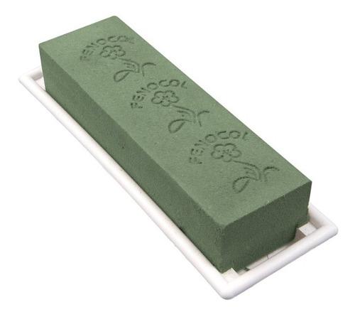 caja de porta espuma floral de 1/2 bloque