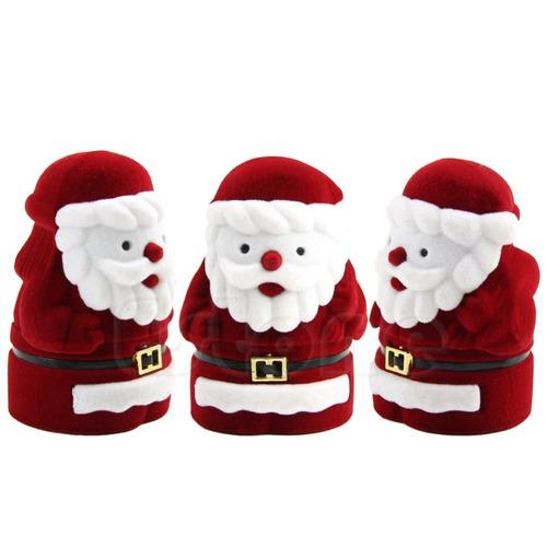 caja de regalo d terciopelo de santa claus papa noel navidad