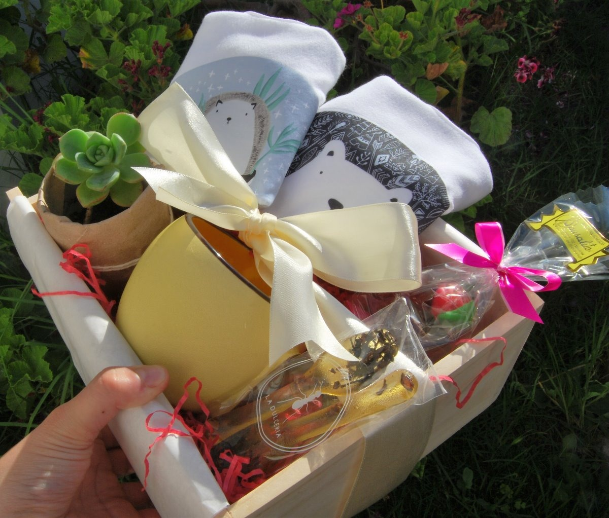 Caja de regalo para mam o embarazada baby shower navidad - Regalos navidad mama ...