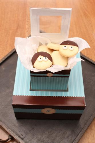 caja de regalos para 4 ponquecitos cupcake modelo chocoblu