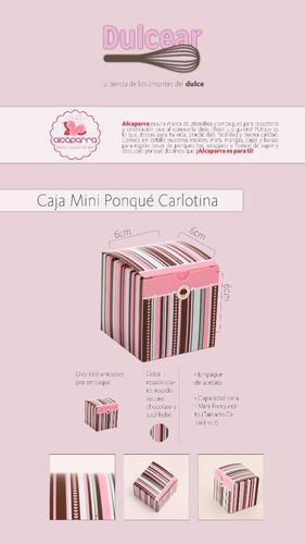 caja de regalos para mini ponquecito cupcake model carlotina