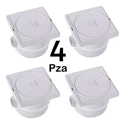 caja de registro abs 4 pz hayward para lampara de alberca