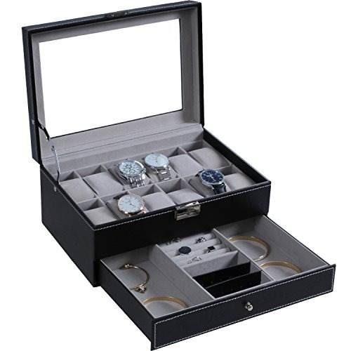 caja de reloj 12 hombres reloj organizador