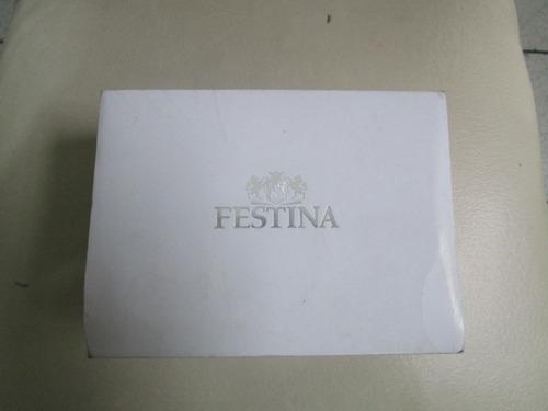 caja de reloj festina para damas original