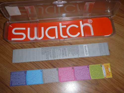 caja de reloj swatch