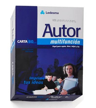 caja de resma carta 80 grs autor multifun 500 hojas x 10 uni