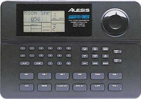 caja de ritmos instrumentos de batería alesis sr-16 16-bit