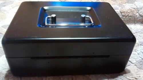 caja de seguridad cash box negra usada