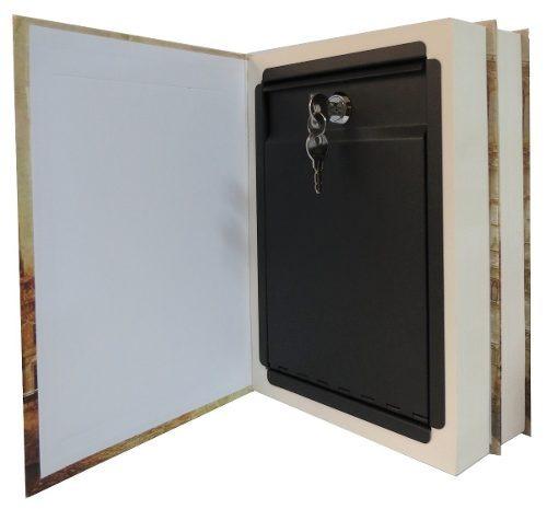 caja de seguridad en forma de libro doble hojas reales 27 cm