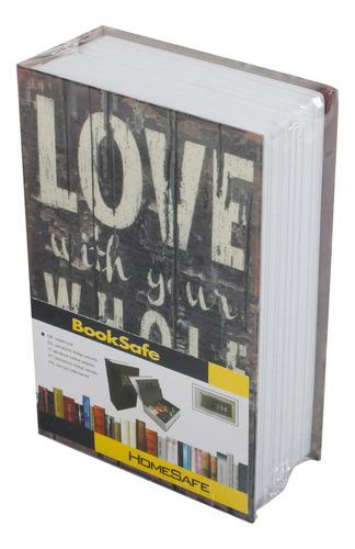caja de seguridad para libros con cerradura de metal