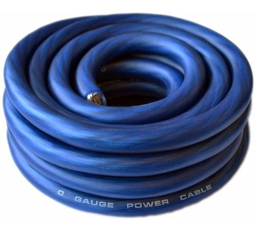 caja de sonido conectado 0 gauge azul amplificador amplifica