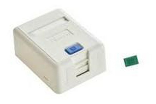 caja de superficie 1 posicion blanca para redes
