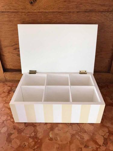 caja de té 6 divisiones varios modelos