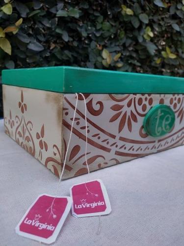 caja de te, alhajero, costurero, organizador de saquitos