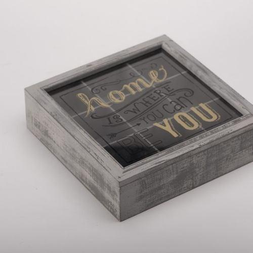 caja de te tapa cristal home - gris këssa envio gratis cdmx