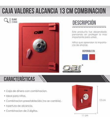 caja de valor alcancia colores combinacion 13cm para monedas