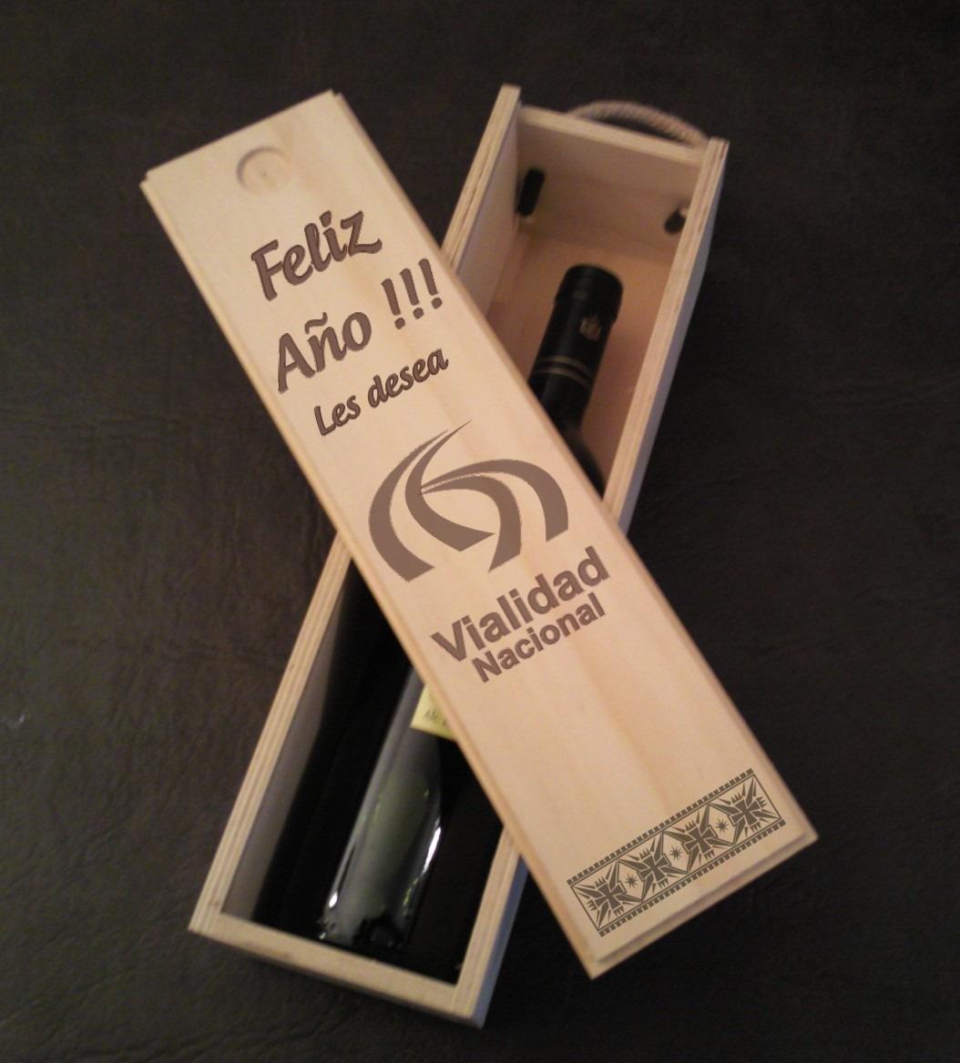 caja de vino grabado regalo