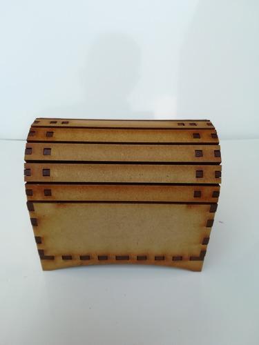 caja decorativa baul de concha de madera de mdf