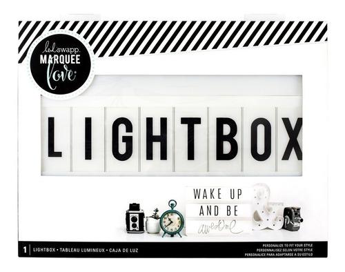 caja decorativa de luz lightbox marquee
