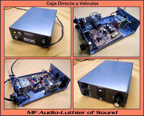 caja directa a tubos mf amplificador guitarras bajos pedales