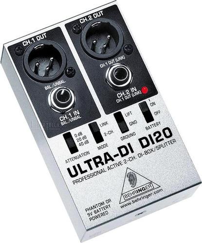 caja directa behringer ultra di di20 di-di20 nuevo garantia