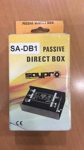 caja directa, caja de acople, direct box pasiva