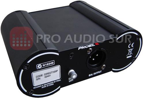 caja directa proel direct 100p pasiva profesional di box pad