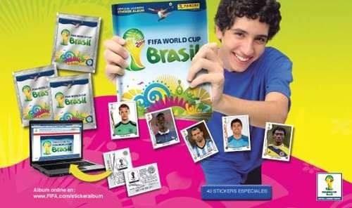 caja display panini italiano laminas mundial brasil 2014