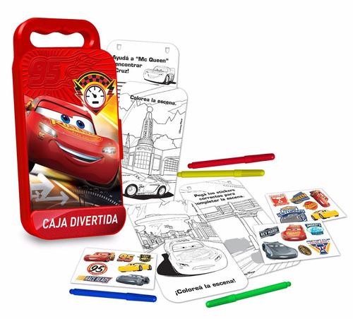 caja divertida de actividades cars disney tapimovil