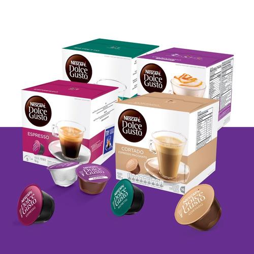 caja dolce gusto x16 cápsulas de café ¡19 variedades!