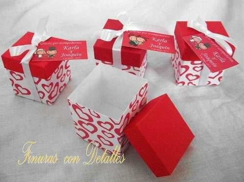 caja dulcero para boda 10 cajas por  $85