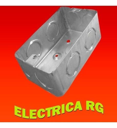 caja embutir metálica chapa rectangular  x 10 unidades