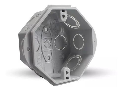 caja embutir pvc rectangular octogonal x100 genrod - tofema