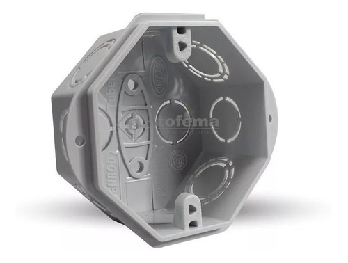 caja embutir pvc rectangular y octogon x10 - genrod - tofema