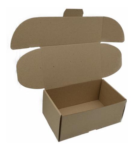 caja empaque envíos carton microcorrugado 25x15x10cm, 100pzs